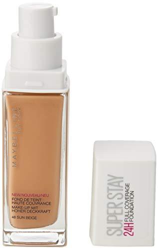 Maybelline New York Make Up, Super Stay 24h Make-Up, Flüssige, langanhaltende Foundation, Nr. 48 Sun Beige, 30 ml