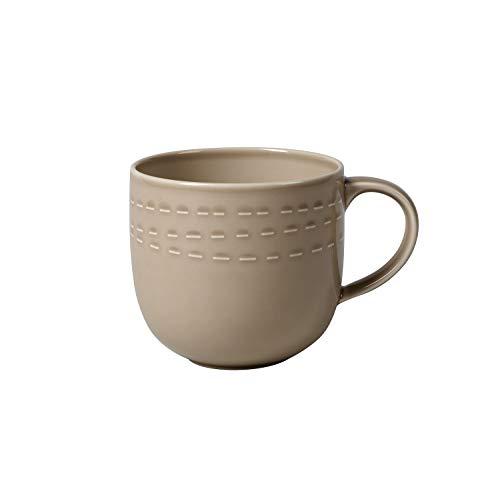 like. by Villeroy und Boch it's my moment Tasse, 500 ml, Premium Porzellan, Braun