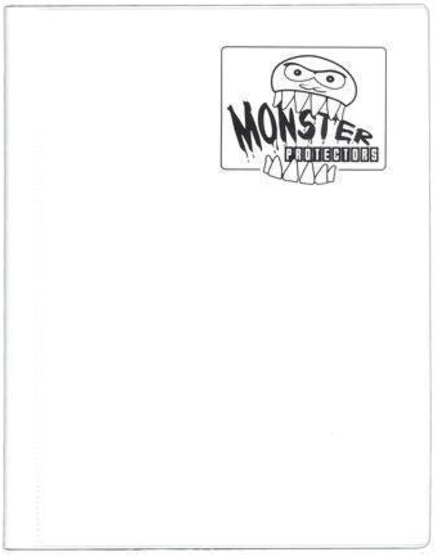Monster Binder  4 Pocket Trading Card Album  Matte White (Antitheft Pockets Hold 160+ Yugioh, Pokemon, Magic the Gathering Cards) by Monster Predectors