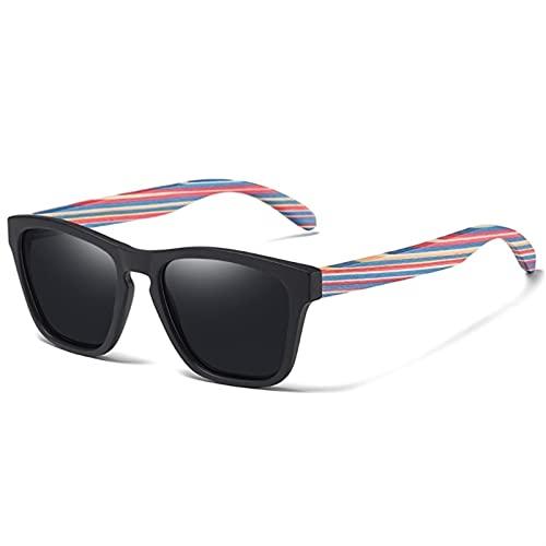 ZHSGV Gafas de sol de madera y bambú laminadas, hechas a mano, polarizadas para hombres y mujeres, gafas de conducción multicolor (color: 15, tamaño: ccc)