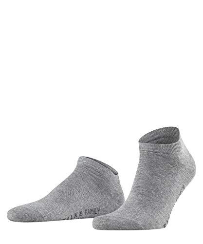 FALKE Herren Sneakersocken Family, 1 Paar, Grau (Light Grey Melange 3390), 39-42