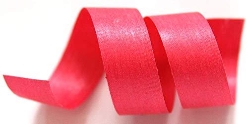 100% Biodegradable Natural Ribbon | 33 Solid Colors | Ribbon for Crafts | Cotton Curling Ribbon | Holiday Ribbon | Wrapping Ribbon | Eco-Friendly Ribbon (Azalea, 1/2' x 50 Yards)