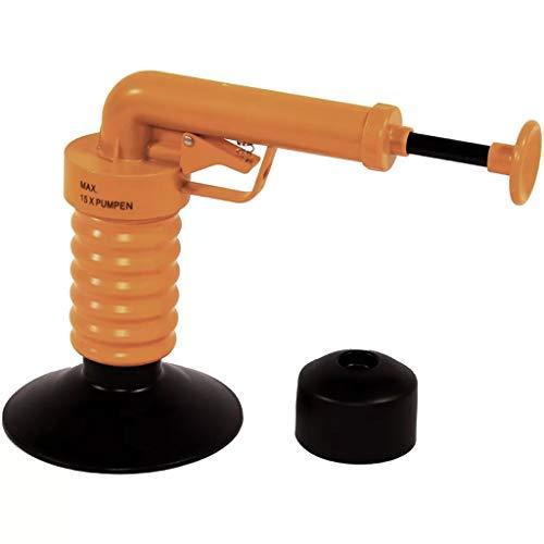 Drain Buster - Sos Desatascador Plus ecológico a presión (hasta 4 bar) con bomba integrada y sus 2 adaptadores