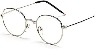 KLBS Korean Style Round Metal Frame Eyewear Metal Vintage Flat Glass For Unisex