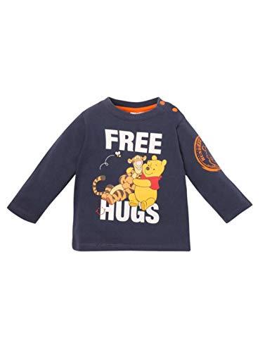 Winnie The Pooh - Maglietta a maniche lunghe per bambino e Tigro blu da 3 a 24 mesi Marine 12 mesi