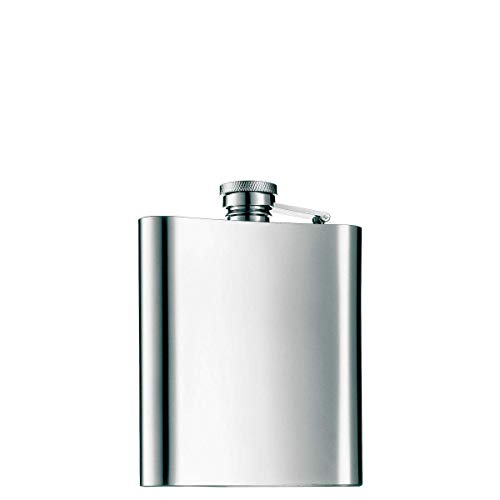 WMF Manhattan Flachmann 200 ml, 20cl, Cromargan Edelstahl mattiert, 13 x 10 cm, Geschenkidee