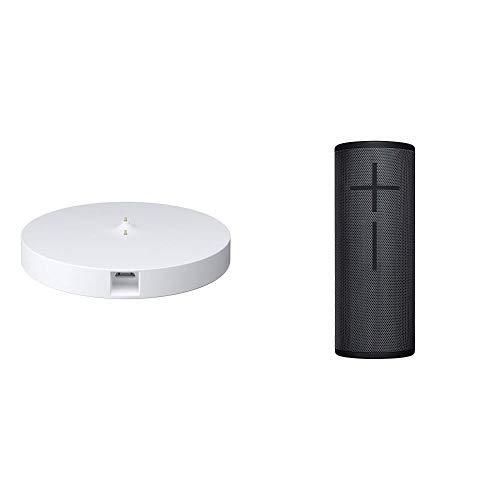 Ultimate Ears Megaboom 3 Bluetooth Lautsprecher (Wasserdichter 360°-Sound) - Mitternachtsschwarz + Power Up Ladestation