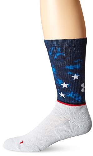 Under Armour Calcetines unisex sin igual de novedad, 1 par de calcetines, Unisex, Calcetines, U063, Blanco/Asst, Large
