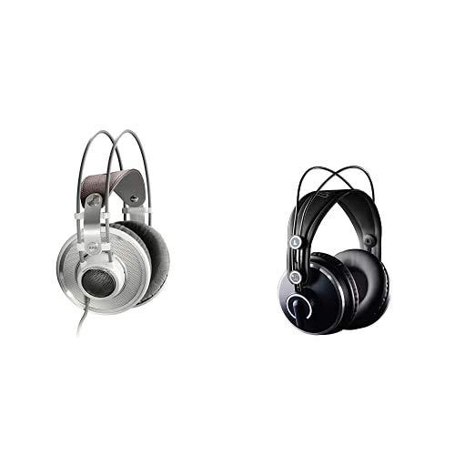 AKG K701 Open Back Cuffie Aperte, 10 Hz – 39800 Hz, Bianco & K271 MKII Cuffie da Studio Professionali, Over-Ear, Nero