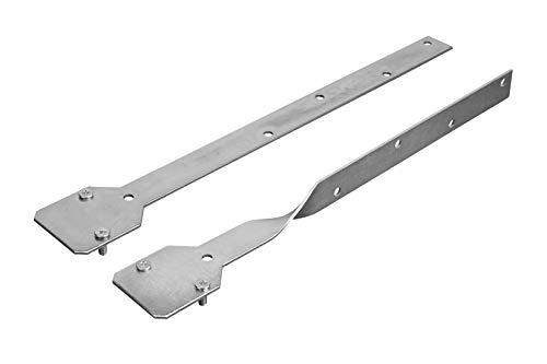 Verlängerung für Rinnenhalter - für vorgehängte Dachrinnen, verzinkter Stahl, gerade und gedreht - RainWay Zubehör (gedreht)
