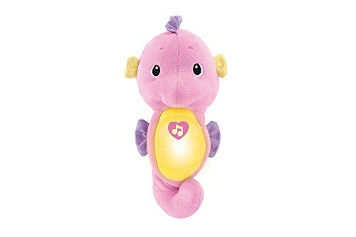 Fisher-Price DGH83 Mein erstes Seepferdchen Plüsch Spieluhr mit Licht Melodien und Meeresgeräusche Babyerstausstattung, ab 0 Monaten, rosa