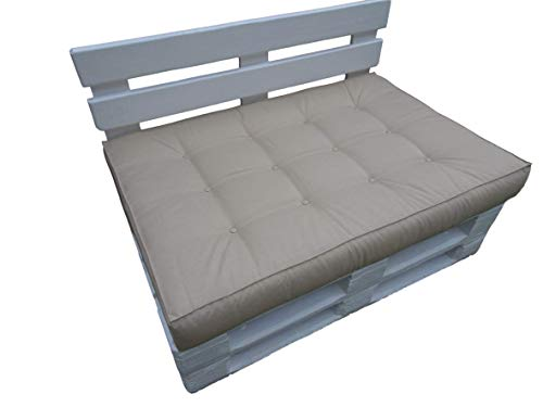 Sitzkissen 120x80x15 LUX für Standardpaletten und passt für die meisten Palettensätze Dieser Art. Hergestellt aus hochwertigem Polyester/Imprägniermittel (Cappucino)
