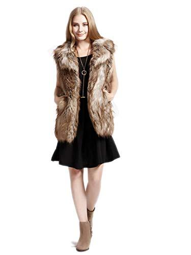 Ushiny Bont Vest Mouwloos Lichtgewicht Faux Bont Vesten Mode Warmer Jas voor Herfst en Winter