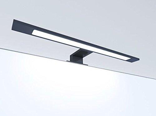 LED Badleuchte schwarz 450mm Spiegellampe Spiegelleuchte Aufbauleuchte, Lichtfarbe:warmweiß