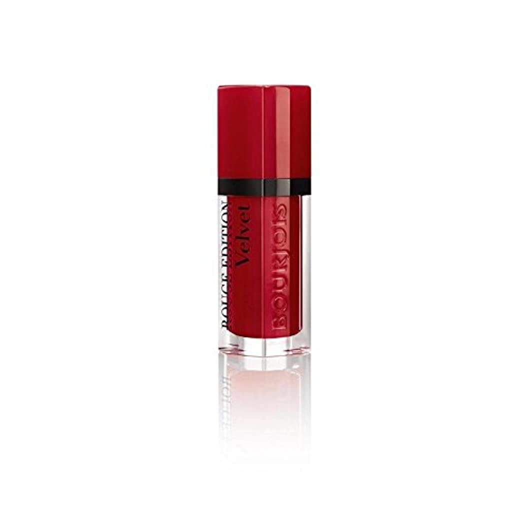 明るくするキャッチ正午ルージュ版のベルベットの口紅、赤い旋回運動の8ミリリットル (Bourjois) (x 6) - Bourjois Rouge Edition Velvet Lipstick, Red Volution 8ml (Pack of 6) [並行輸入品]