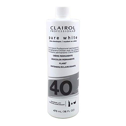Clairol Pure White 40 Creme Developer Maximum Lift, 16 Ounces