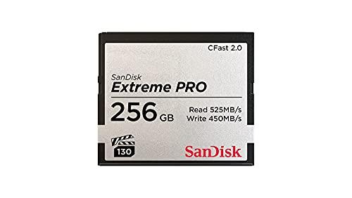 Tarjeta de Memoria CFast 2.0 SanDisk Extreme Pro de 256 GB, hasta 525 MB/s, Negro