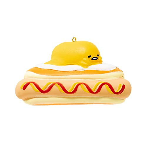 Sanrio Gudetama Lazy Egg Yolk Diner Slow Rising Squishy Toy (Hotdog) for Birthday Gifts, Party Favors, Stress Balls, Play at Home & Relieve Stress with Kawaii Squishies for Kids, Girls, Boys, Adults