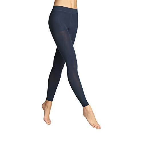 ITEM m6 - OPAQUE LEGGINGS DAMEN | blau | L | L2 | Push-up Leggings blickdicht im 60 DEN Look