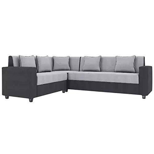CasaStyle - CasaLiving Six Seater Corner Sofa (Grey-Black)