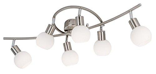 Nino LED Deckenleuchte LOXY mit 6 Spots - LxB: 750 x 250 mm - Lampe Leuchte Hängelampe Deckenlampe Wohnzimmerlampe