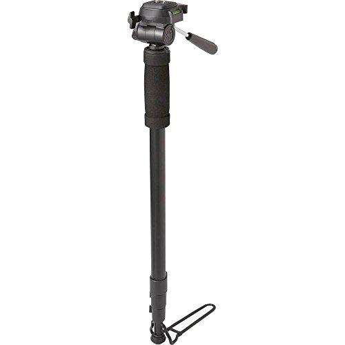 Renkforce enkele voet 1/4 inch werkhoogte = 64 – 180 cm zwart incl. beschermhoes, 3D-kogelkop, waterpas