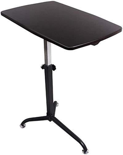 Mesa sobrecama de elevación móvil mesa de ordenador sofá mesa auxiliar escritorio simple mesa de desayuno portátil (cuatro colores opcionales) 62 x 38 cm (color: color madera) negro nogal