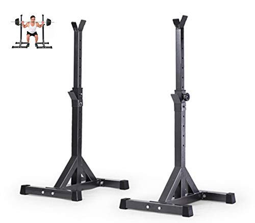 GDL Verstellbarer Squat Rack, Pull Up Bar Squat Rack, Squat Stands Rack Barbell Free Press Bank, Krafttraining Fitness Barbell Schwere Gewichte Bar Barbell Squat Stand Steht Barbell Rack
