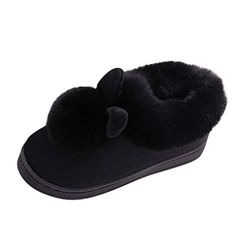 Luckycat Zapatillas De Casa Mujer Pantuflas De Lujo Casa para Mujer Zapatillas peludas Mujer Invierno Fur Zapatillas de Estar Cerradas Calienta Pantuflas para Pareja Interior o Exterior…