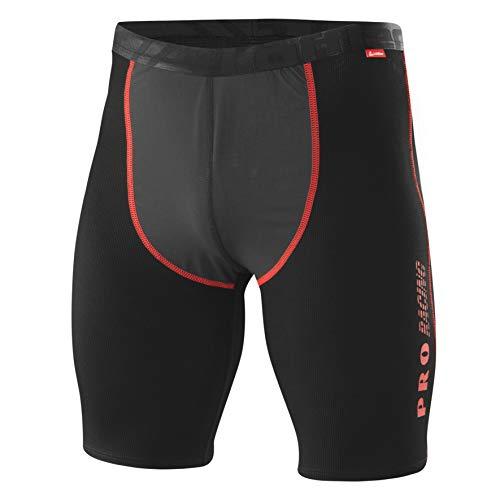 LÖFFLER Herren HR.Windstopper Boxershorts TRANSTEX Light Unterhose, Schwarz/Rot, 52
