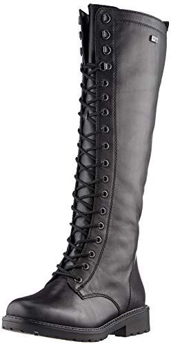 Remonte Damen R6579 Kniehohe Stiefel, schwarz/schwarz / 02, 40 EU
