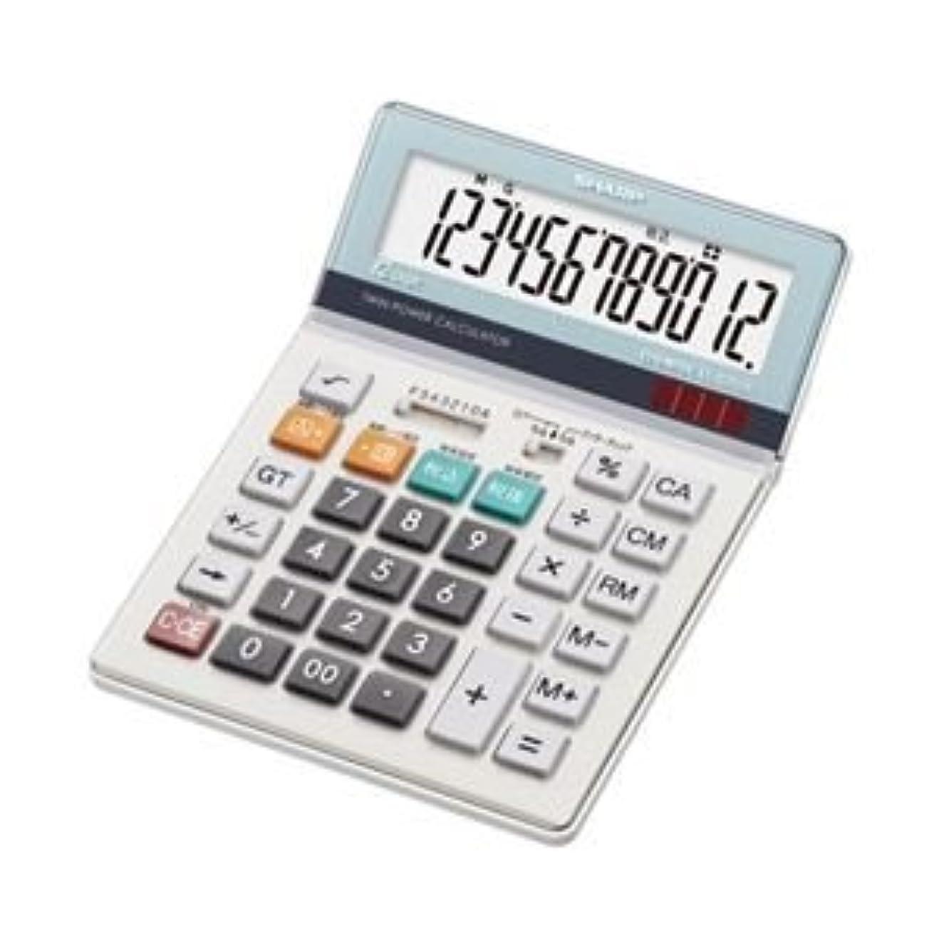 ローラー日食限りなくシャープ 電卓(セミデスクタイプ) EL-S752K 〈簡易梱包