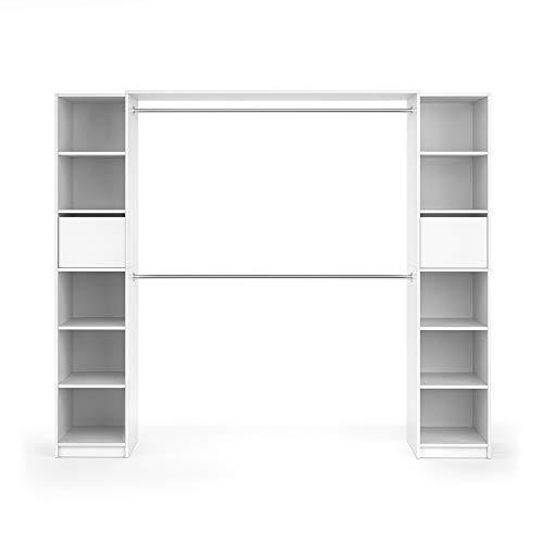 Vicco Kleiderschrank Visit Weiß Dielenschrank Flurgarderobe - Offen begehbar Kleiderständer Garderobe Diele Flur Nische Garderobenständer (Set XL)