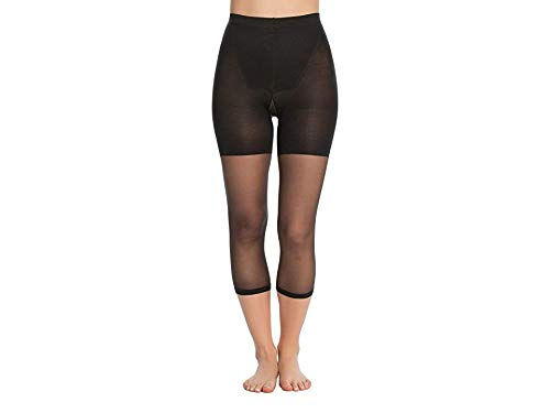 Spanx Power Womens Capri from Nylon and Elastane for Bottom, Thighs & Legs for Firm Control with Comfortable Waistband for Invisible Shaping in Pants 911I - Black - Size A