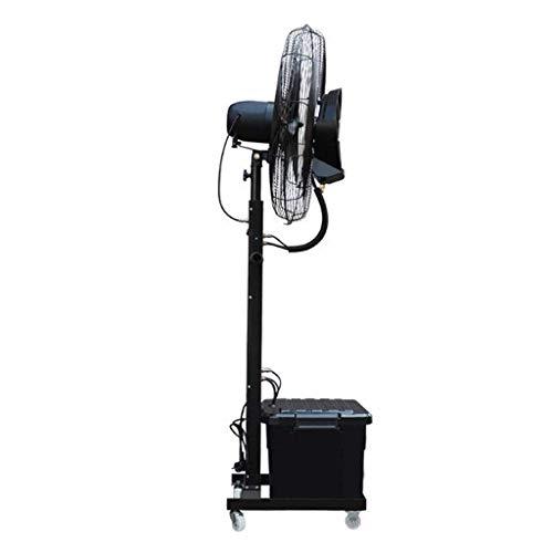 Ventilador de refrigeración Vertical Atomización oscilante Ventilador Comercial Nebulizador de pulverización Humidificador Industrial Torre Grande Ventilador móvil 40L 260W, Negro