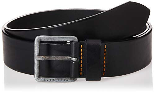 Hugo Boss Herren Jeeko Italian Leather Belt Gürtel, schwarz, 44 US