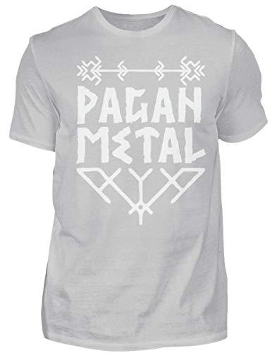 Pagan Metal (blanc) - Viking Metal, Viking, Asatru, Marteau de Thor, Odin, Wotan, Ensiferum - T-shirt pour homme - - Large