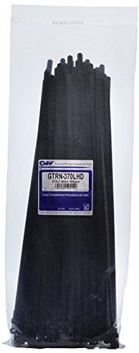 GW Kabelbinder-Technik, Kabelbinder wiederlösbar 370 x 7,6 mm, schwarz, 100 Stück, GTRN-370LHDBC
