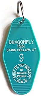 """Gilmore Girls DRAGONFLY INN Room #9""""PEACE. QUIET. COFFEE."""" Inspired Key Tag"""