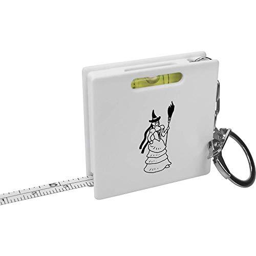 Azeeda 'Hexe mit Besen' Schlüsselring-Maßband / Wasserwaage (KM00010965)