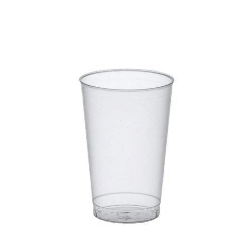 Papstar drinkbeker/plastic beker (25 stuks) 0,3 l van polystrol-kunststof, Ø 7,8 x 11,8 cm, doorschijnend, onbreekbaar, vaatwasserbestendig en herbruikbaar voor evenementen en onderweg, 16147