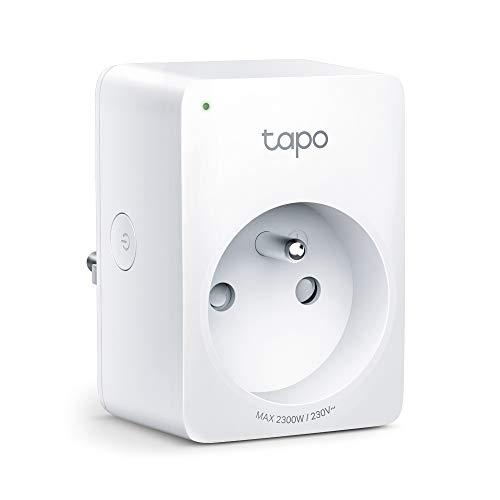 TP-Link Prise Connectée WiFi Tapo P100(FR), Compatible avec Amazon Alexa et Google home pour la Commande Vocale, Contrôler le chauffage mobile/lampe à distance par smartphone, aucun hub requis