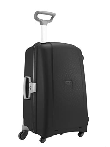 Samsonite Aeris Spinner L Suitcase Luggage, 75 cm, 87.5 Litre, Black (Black)