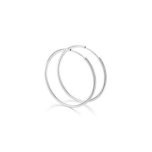 Preisvergleich Produktbild MOLADY Creolen Silber 925 Ohrringe für Damen,  Große&kleine Ohrringe Hoop Kreis für Mädchen / Jungen
