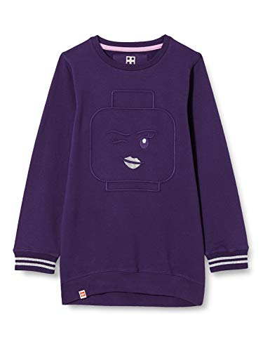 LEGO Mädchen MW-Long Sweatshirt, 693 Dark Purple, 140