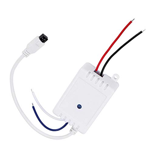 fasient1 Módulo de Control Remoto inalámbrico de 12 V, Kit de Receptor de Interruptor de relé Remoto infrarrojo de 1 Canal autoblocante, para la mayoría de los electrodomésticos