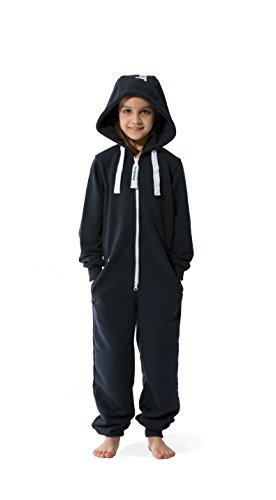 Jumpster Jumpsuit Kids Jungen Mädchen Unisex Kinder Overall Onesie Deepest Blue Blau M (134-140)