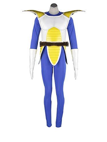 Mtxc Men's Dragon Ball Cosplay Costume Vegeta Saiyan Armor 1st Size L-Plus Blue