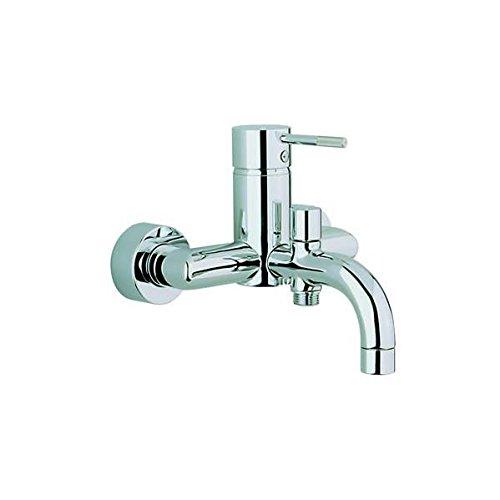 CISAL LESS - Rubinetto miscelatore per vasca da bagno e doccia, finitura cromata