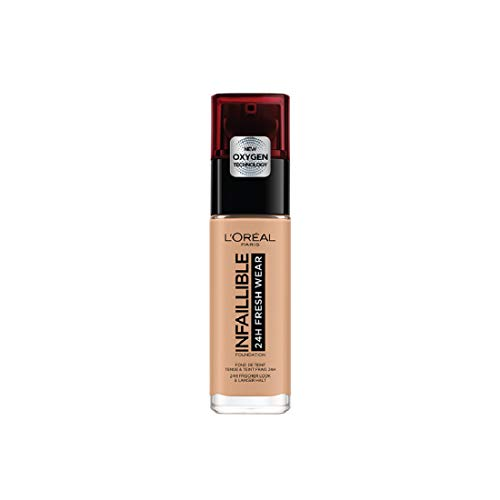 L Oréal Paris Make-up designer 24H Fresh Wear Base de Maquillaje de Larga Duración , Tono 230 Miel Eclat- 30 ml